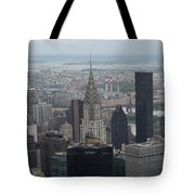 Manhattan From The Empire State Building Tote Bag