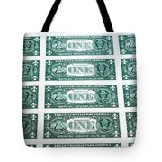 Many One Dollar Bills Side By Side Tote Bag