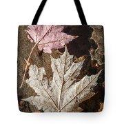 Maple Leaves In Water Tote Bag