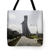 Marina Bay Sands And Singapore Flyer As Seen From A Distance Tote Bag