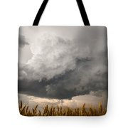 Marshmallow - Bubbling Storm Cloud Over Wheat In Kansas Tote Bag