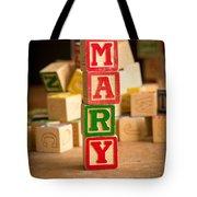 Mary - Alphabet Blocks Tote Bag