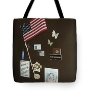 Mary Ann Guss' Patriotic Door Baldwin City Kansas 2002 Tote Bag