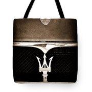 Maserati Hood - Grille Emblems Tote Bag