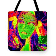 Masked Maiden Tote Bag