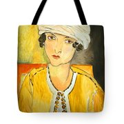 Matisse's Lorette With Turban And Yellow Jacket Tote Bag