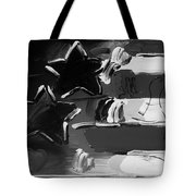 Max Americana In Black And White Tote Bag