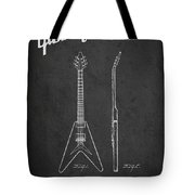 Mccarty Gibson Electric Guitar Patent Drawing From 1958 - Dark Tote Bag