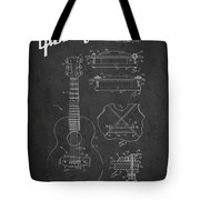 Mccarty Gibson Stringed Instrument Patent Drawing From 1969 - Dark Tote Bag