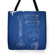 Mccarty Gibson Stringed Instrument Patent Drawing From 1969 - Bl Tote Bag