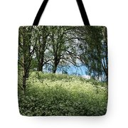 Meadow And Trees In Spring. Vitabergsparken, Stockholm, Sweden. Tote Bag