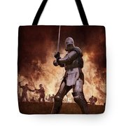 Medieval Knights In Battle Tote Bag