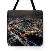 Melbourne At Night Vi Tote Bag