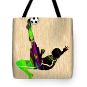 Womans Soccer Tote Bag