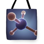 Methane Molecule Tote Bag