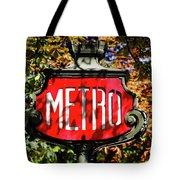 Metro Sign, Paris, France Tote Bag