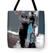 Mexican Soldier With Wife And Child Unknown Location 1915-1920-2014  Tote Bag
