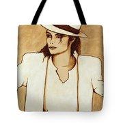Michael Jackson Original Coffee Painting Tote Bag