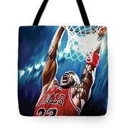 Michael Jordan Artwork Tote Bag by Sheraz A