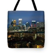 Midtown Atlanta Skyline At Dusk Tote Bag