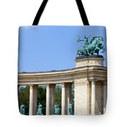 Millennium Monument In Budapest Tote Bag