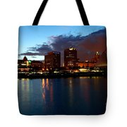 Milwaukee Skyline At Dusk Tote Bag