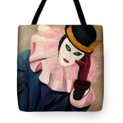 Mime With Thoughts Tote Bag