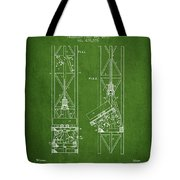 Mine Elevator Patent From 1892 - Green Tote Bag