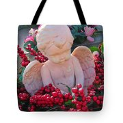 Mischevious Little Cherub Takes A Pee Tote Bag