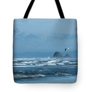 Misty Copalis Rock And Gulls Tote Bag