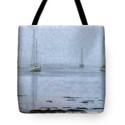 Misty Sails Upon The Water Tote Bag