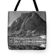 109644-bw-mitchell Peak, Wind Rivers Tote Bag