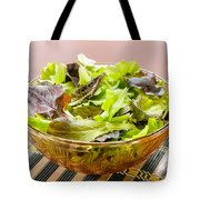 Mixed Salad On Table Tote Bag