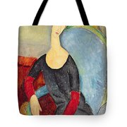 Mme Hebuterne In A Blue Chair Tote Bag