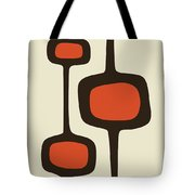Mod Pod Two Orange With Brown Tote Bag
