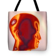 Model Of A Human Head In Profile Tote Bag