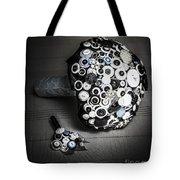 Modern Button Design Wedding Bouquet Tote Bag