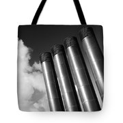 Modern Restaurant Chimneys. Tote Bag