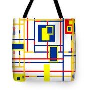 Mondrian Color Teraphy Tote Bag