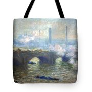 Monet's Waterloo Bridge On A Gray Day Tote Bag