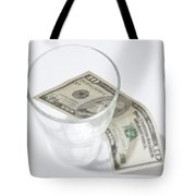 Money And A Glass Tote Bag