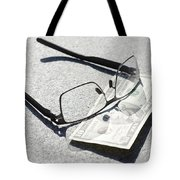Money And Eyeglasses Tote Bag