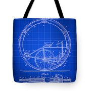 Monocycle Patent 1894 - Blue Tote Bag