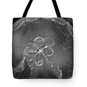 Moon Jellyfish - Black And White Tote Bag