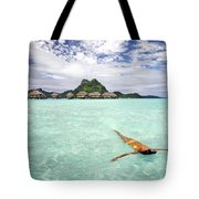 Moorea Woman Floating Tote Bag