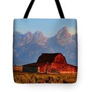 Mormon Row And The Grand Tetons  Tote Bag