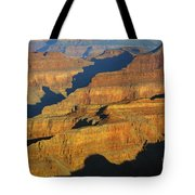 Morning Color And Shadow Play In Grand Canyon National Park Tote Bag