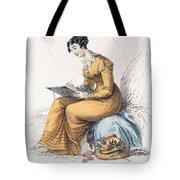 Morning Dress, Fashion Plate Tote Bag