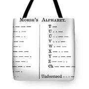 Morse Code Alphabet Tote Bag