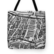 Moscow: Kitai-gorod Map Tote Bag